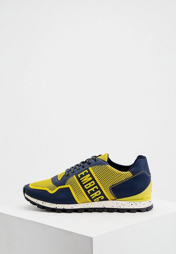 мужские кроссовки bikkembergs, желтые