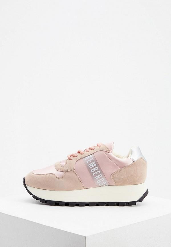 женские кроссовки bikkembergs, розовые