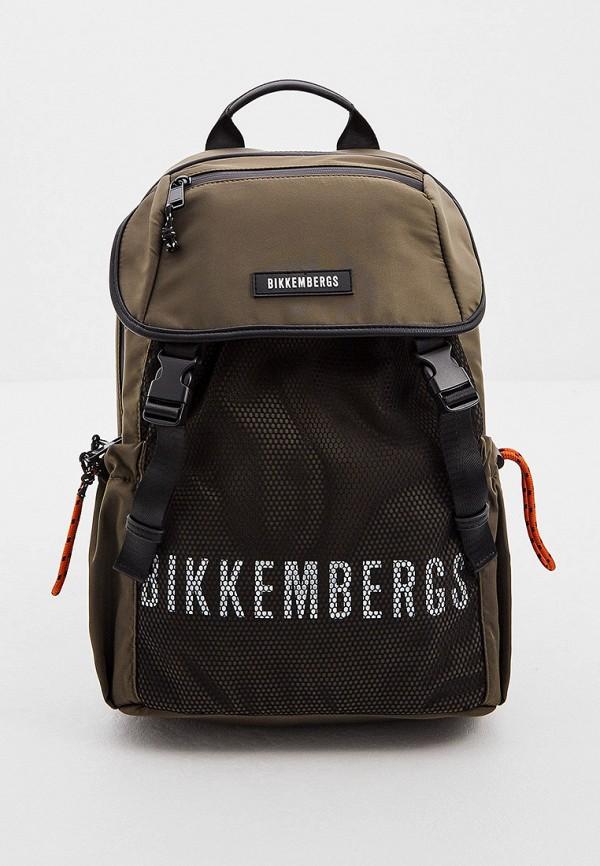 мужской рюкзак bikkembergs, хаки