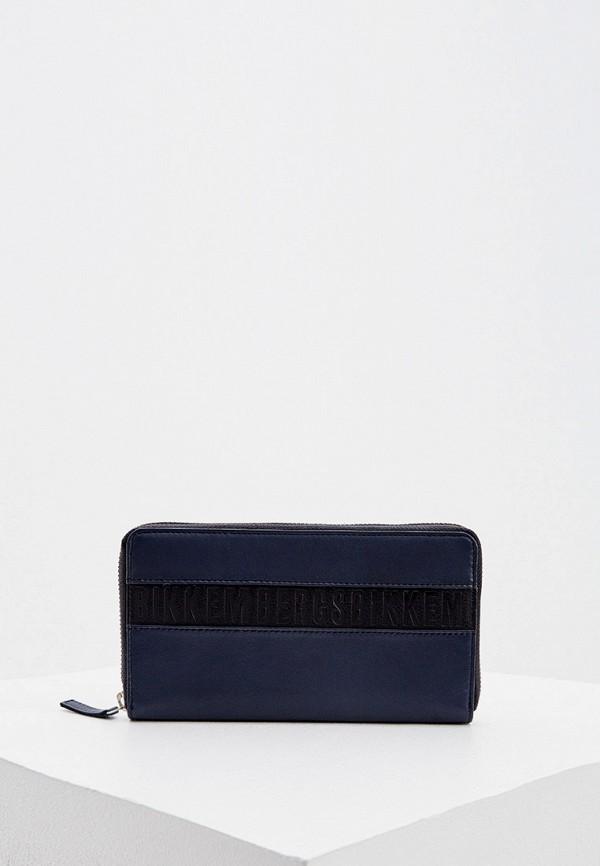 мужской кошелёк bikkembergs, синий