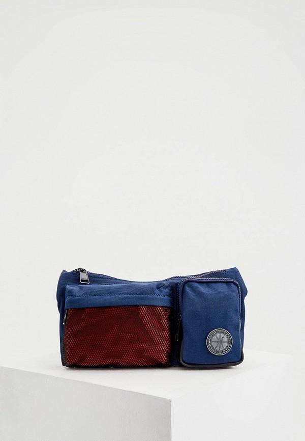 мужская поясные сумка bikkembergs, синяя