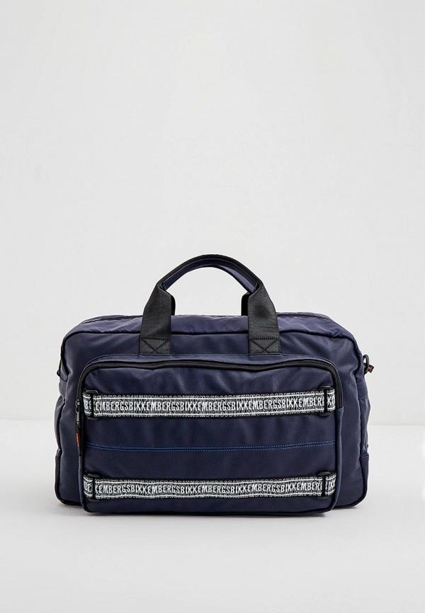 мужская дорожные сумка bikkembergs, синяя