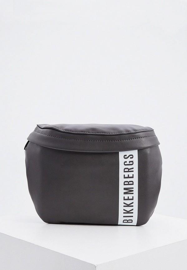 мужская поясные сумка bikkembergs, серая