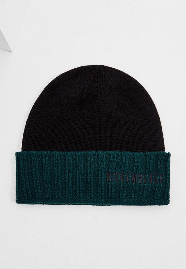 мужская шапка bikkembergs, черная