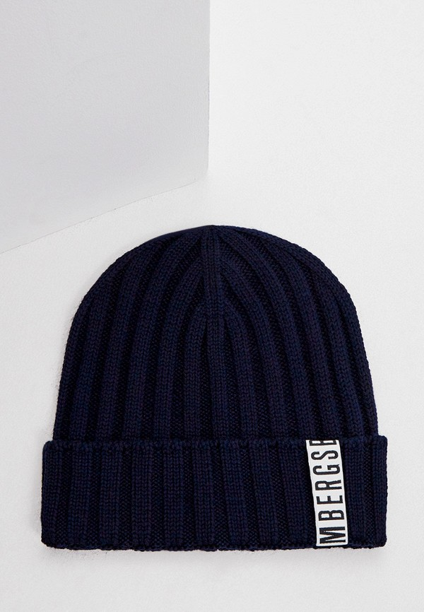 мужская шапка bikkembergs, синяя