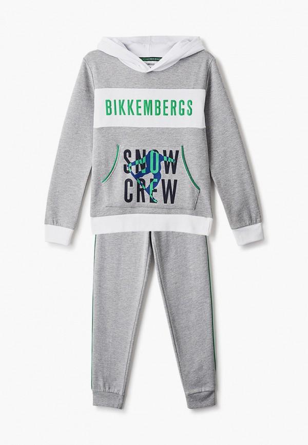 спортивный костюм bikkembergs для мальчика, серый