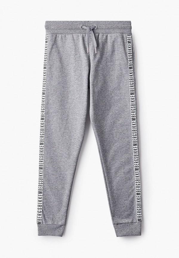 спортивные брюки bikkembergs для мальчика, серые