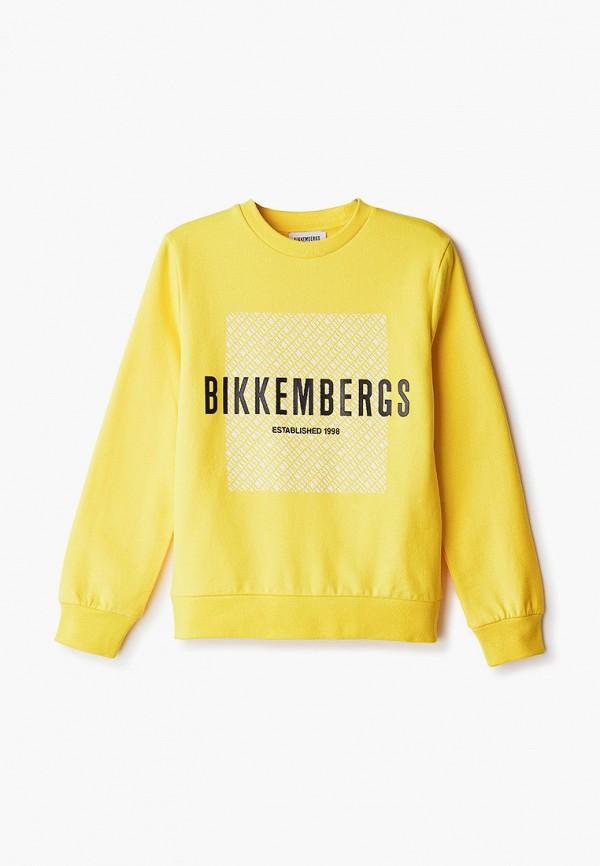 свитшот bikkembergs для мальчика, желтый
