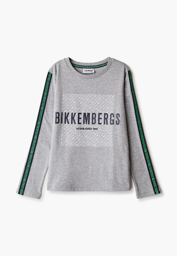 лонгслив bikkembergs для мальчика, серый