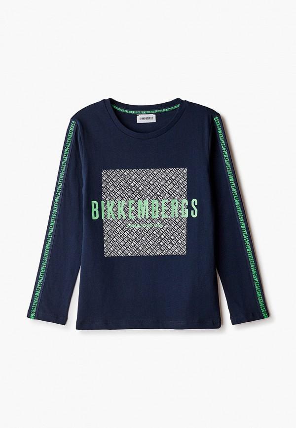лонгслив bikkembergs для мальчика, синий