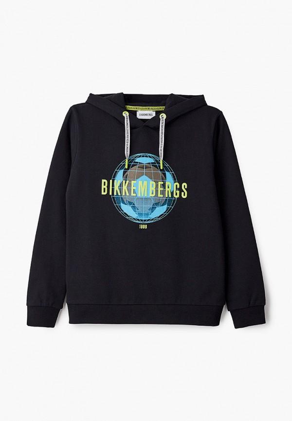 худи bikkembergs для мальчика, черные
