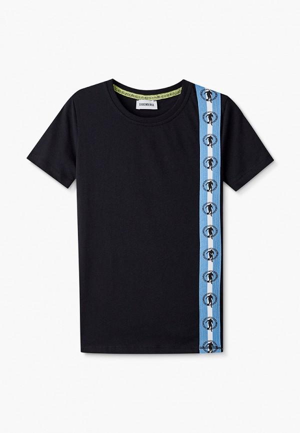 футболка с коротким рукавом bikkembergs для мальчика, черная