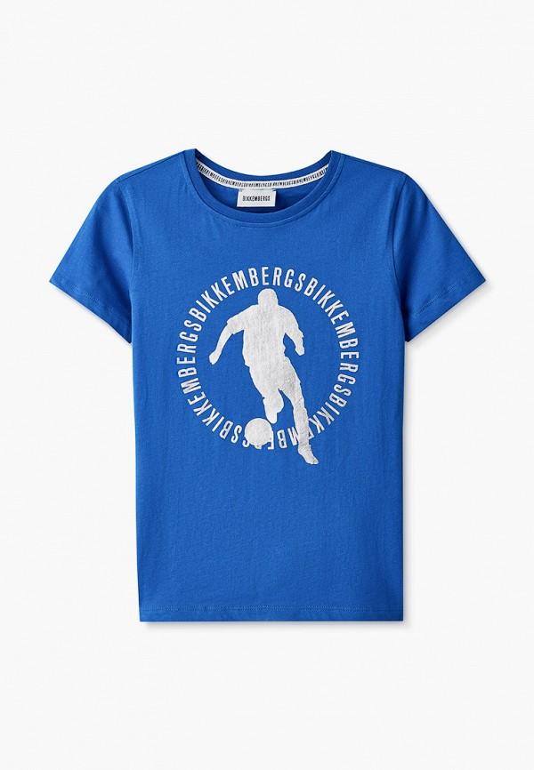 футболка с коротким рукавом bikkembergs для мальчика, синяя