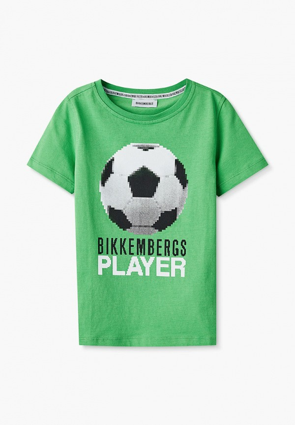 футболка с коротким рукавом bikkembergs для мальчика, зеленая