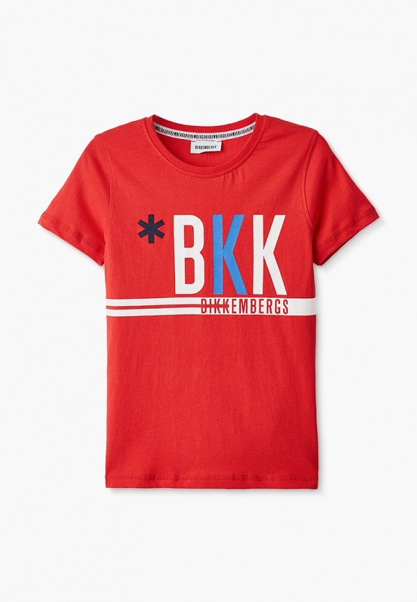 футболка с коротким рукавом bikkembergs для мальчика, красная