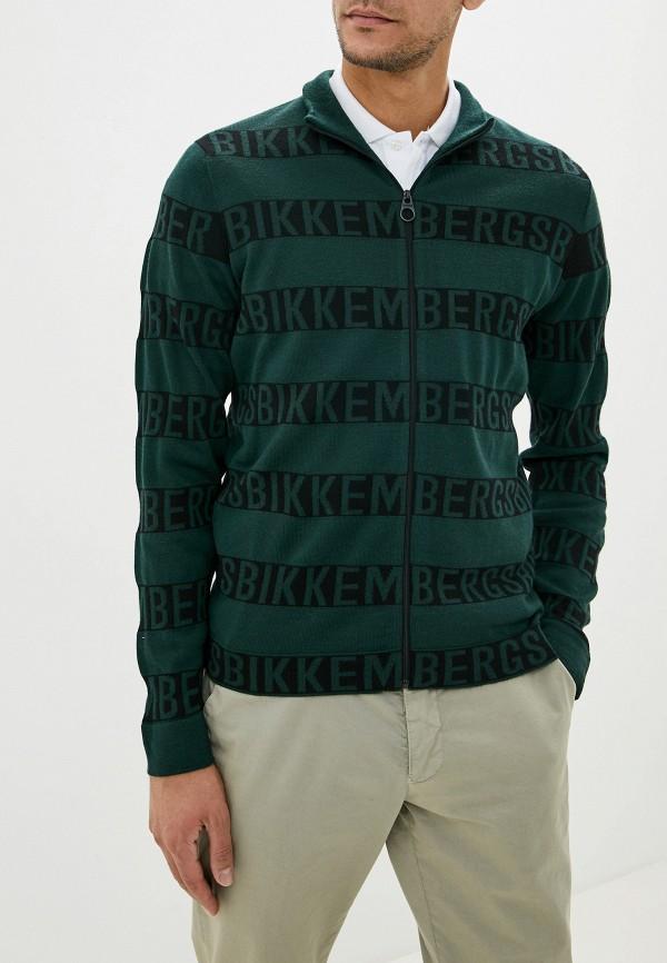 мужской кардиган bikkembergs, зеленый