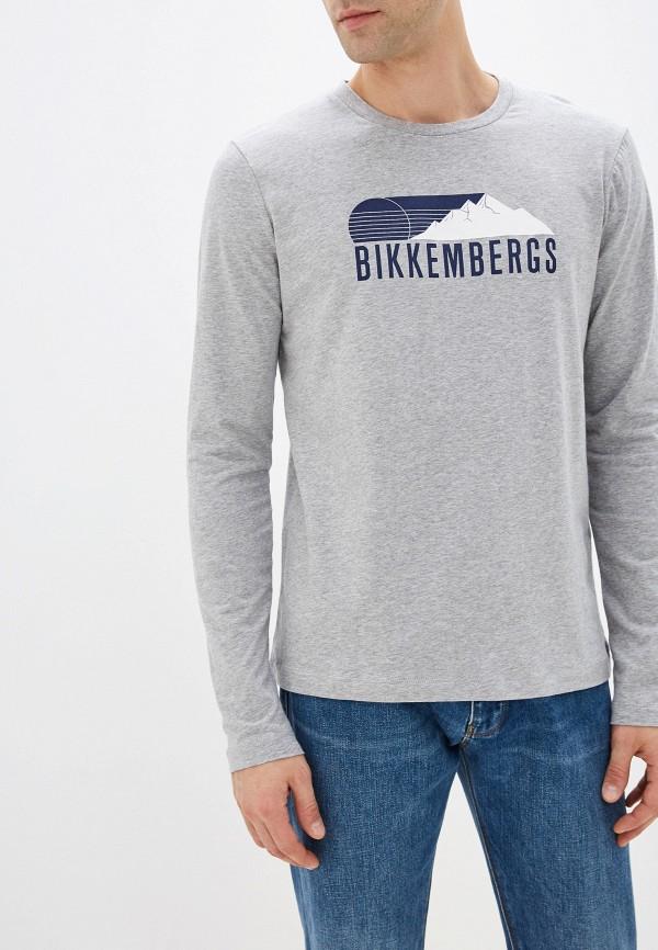 мужской лонгслив bikkembergs, серый