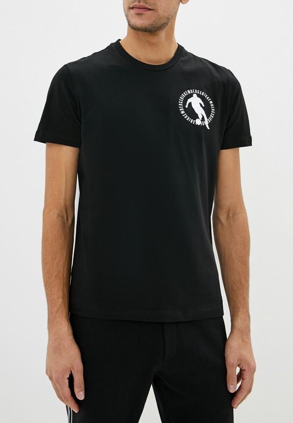 мужская футболка bikkembergs, черная