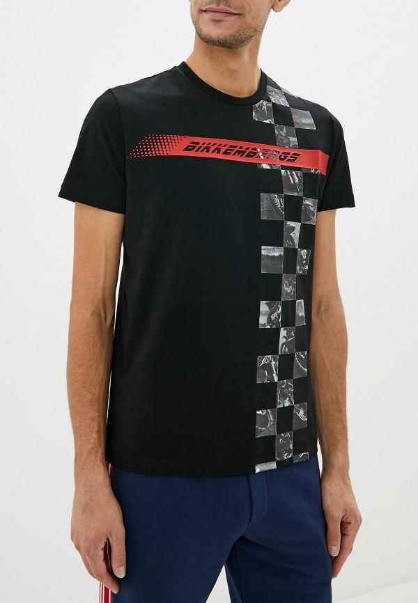 мужская футболка с коротким рукавом bikkembergs, черная