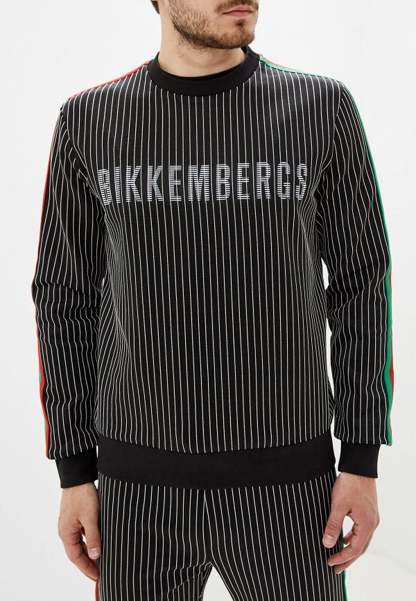 мужской свитшот bikkembergs, черный