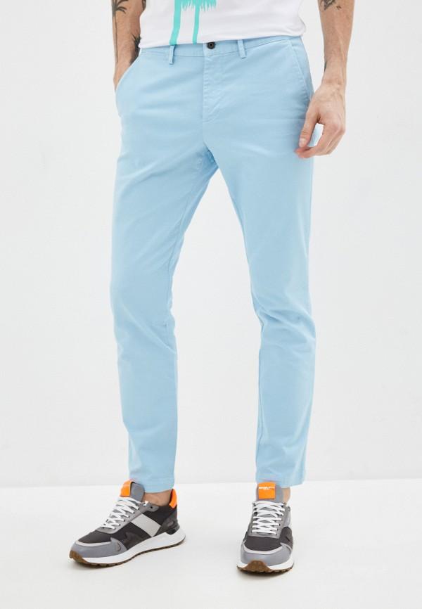 мужские повседневные брюки bikkembergs, голубые