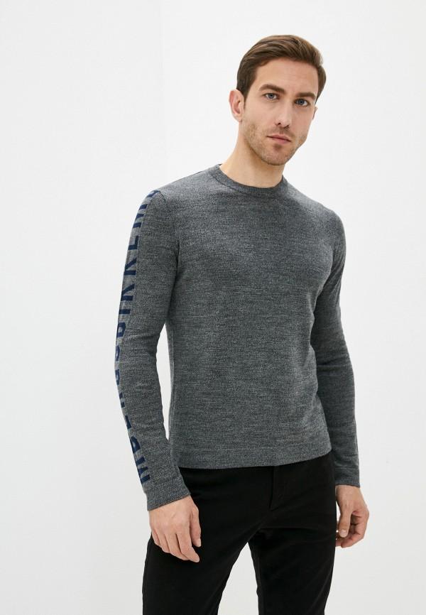 мужской джемпер bikkembergs, серый