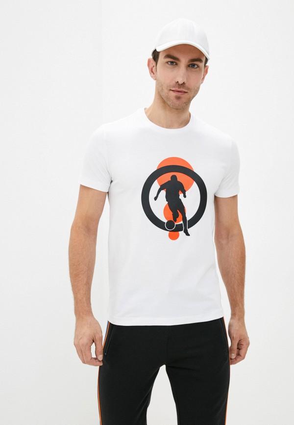 мужская футболка bikkembergs, белая