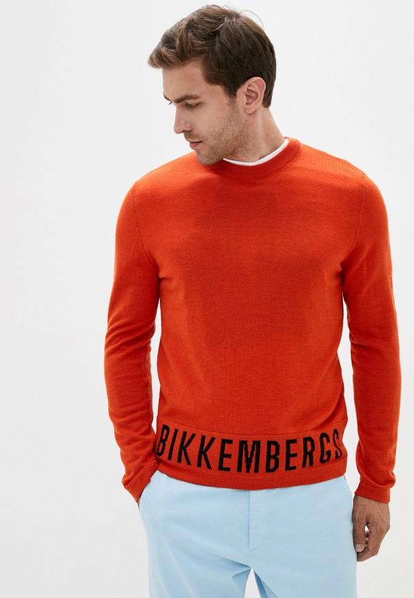 мужской джемпер bikkembergs, оранжевый