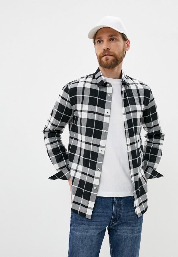 мужская рубашка с длинным рукавом bikkembergs, черная