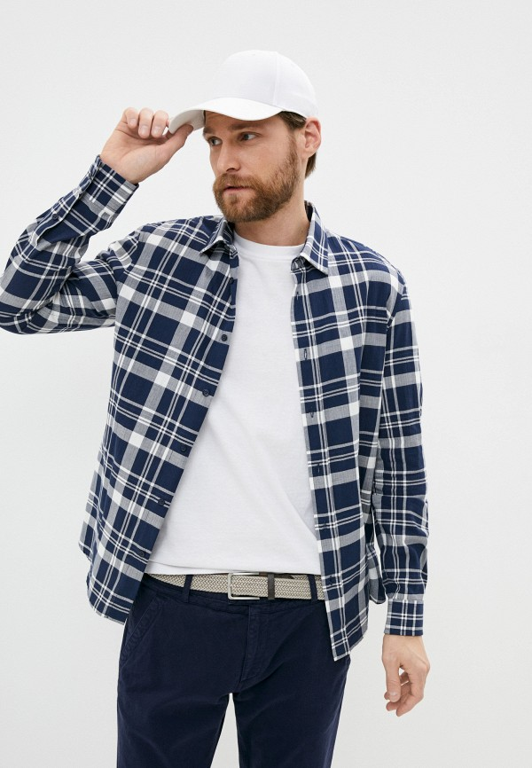 мужская рубашка с длинным рукавом bikkembergs, синяя
