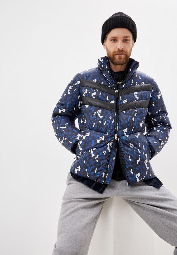 мужская куртка bikkembergs, синяя