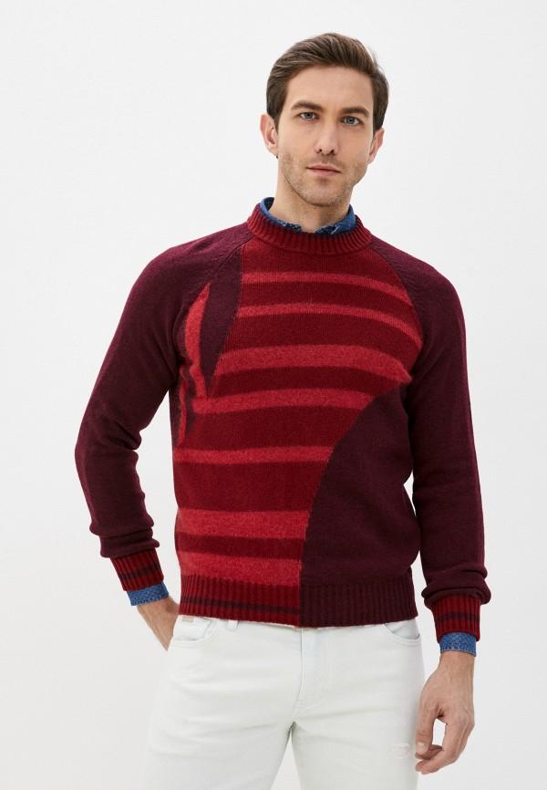 мужской джемпер bikkembergs, бордовый