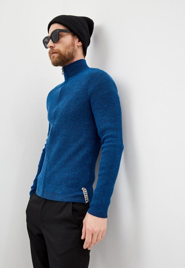 мужской кардиган bikkembergs, синий