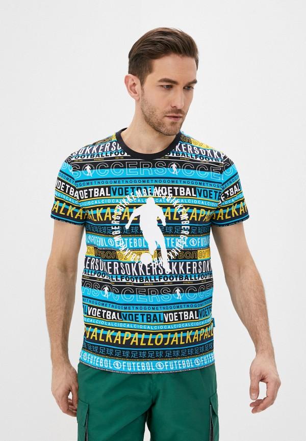 мужская футболка bikkembergs, разноцветная