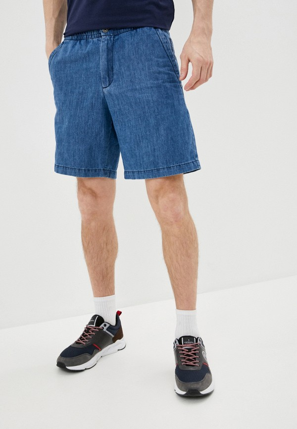 мужские джинсовые шорты bikkembergs, голубые