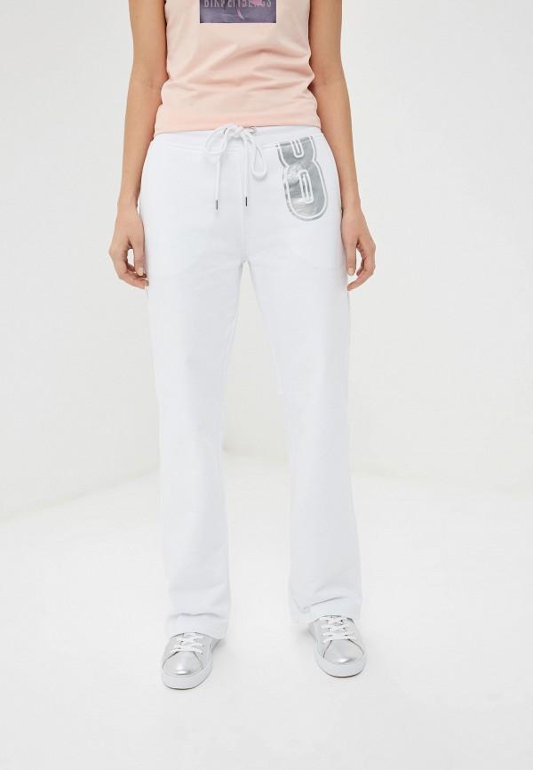 женские спортивные спортивные брюки bikkembergs, белые