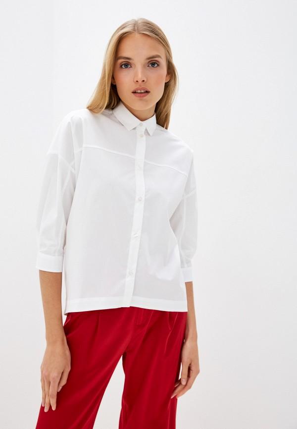 женская рубашка с длинным рукавом bikkembergs, белая