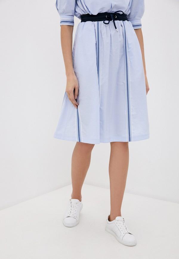 женская юбка bikkembergs, голубая