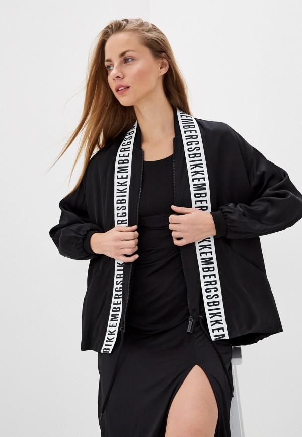 женская куртка bikkembergs, черная