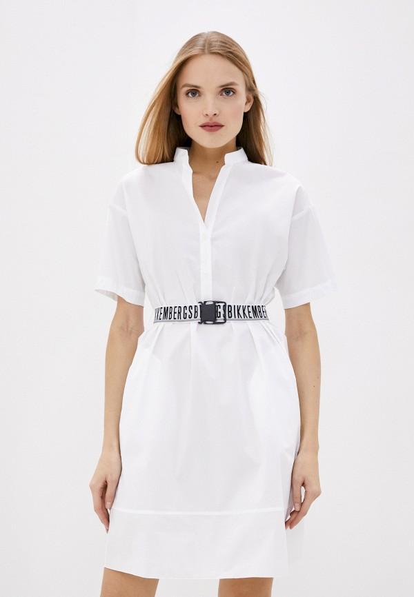 женское платье bikkembergs, белое