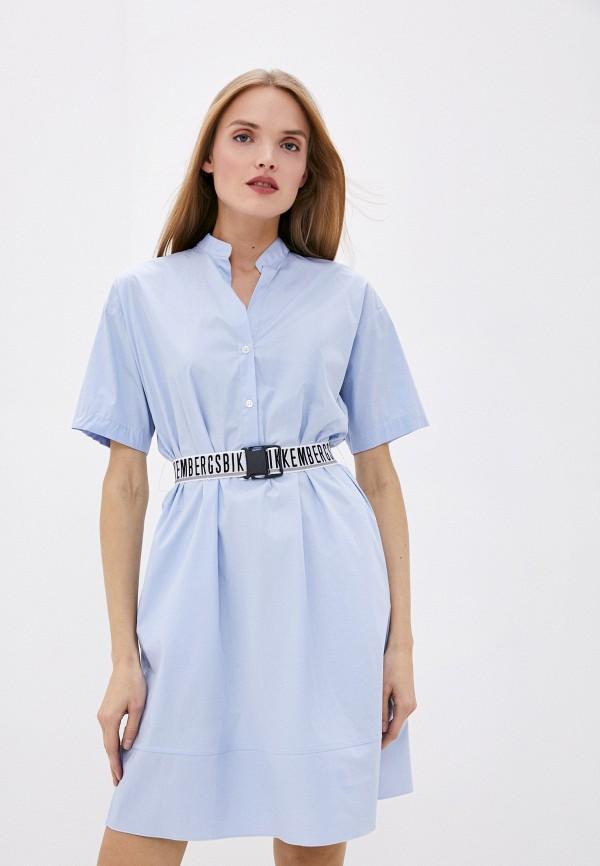 женское платье bikkembergs, голубое