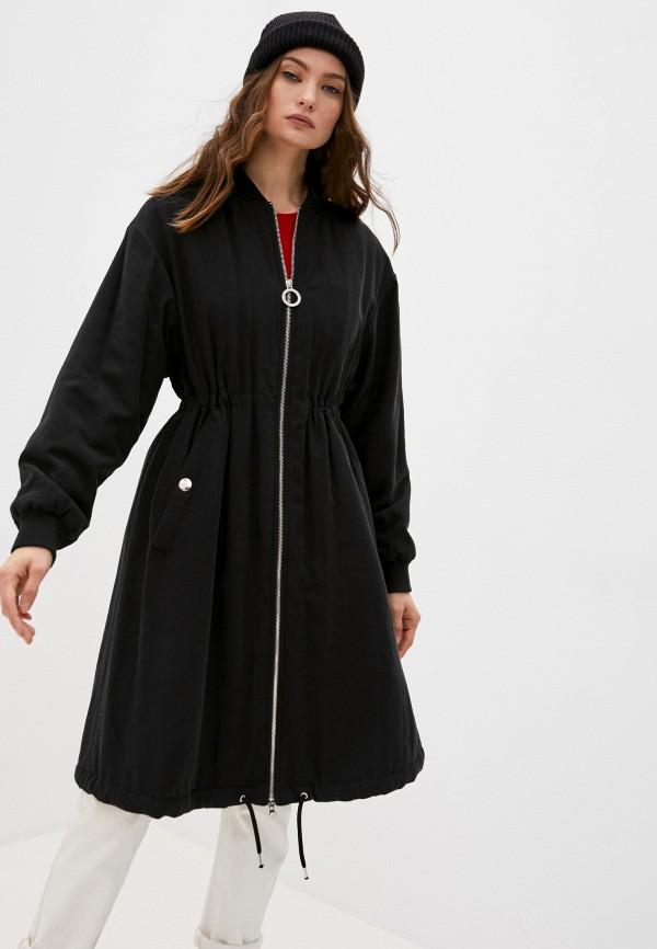 женское пальто bikkembergs, черное