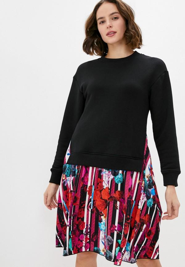 женское платье bikkembergs, разноцветное