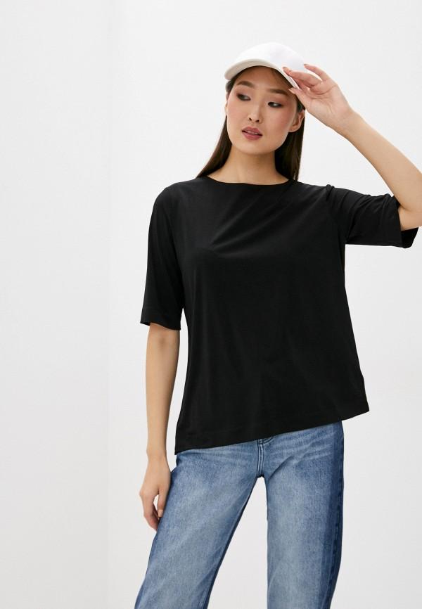 женская футболка bikkembergs, черная