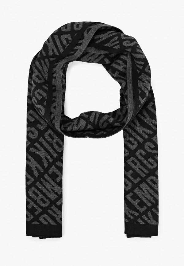 мужской шарф bikkembergs, черный