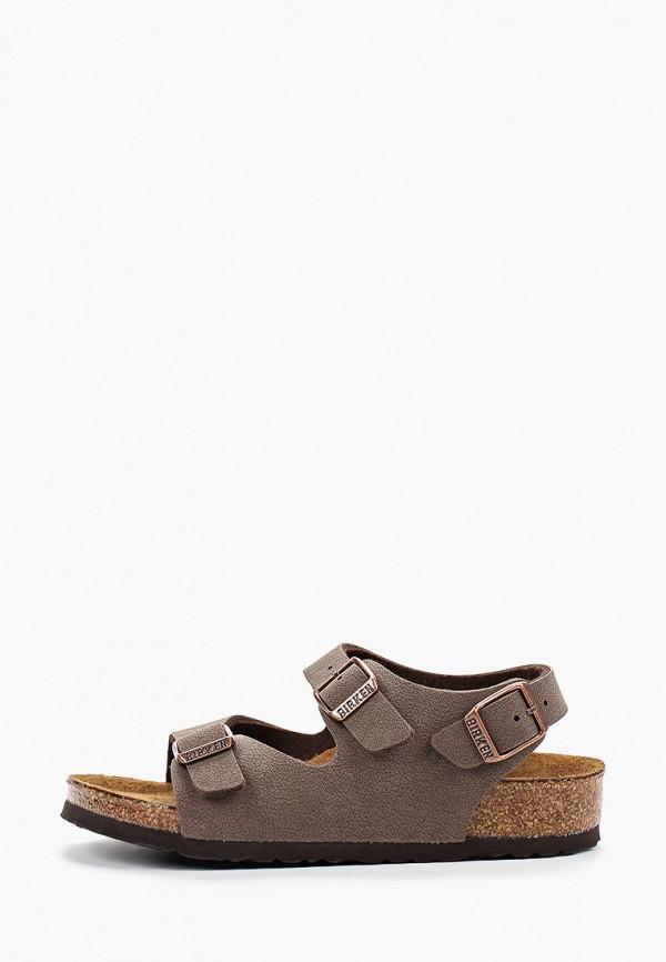 сандалии birkenstock для мальчика, коричневые