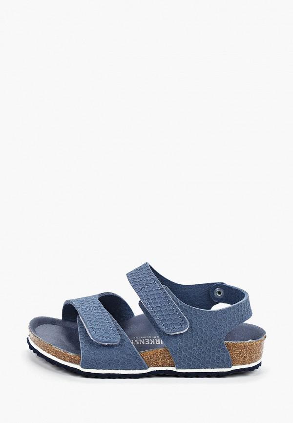 сандалии birkenstock для мальчика, голубые