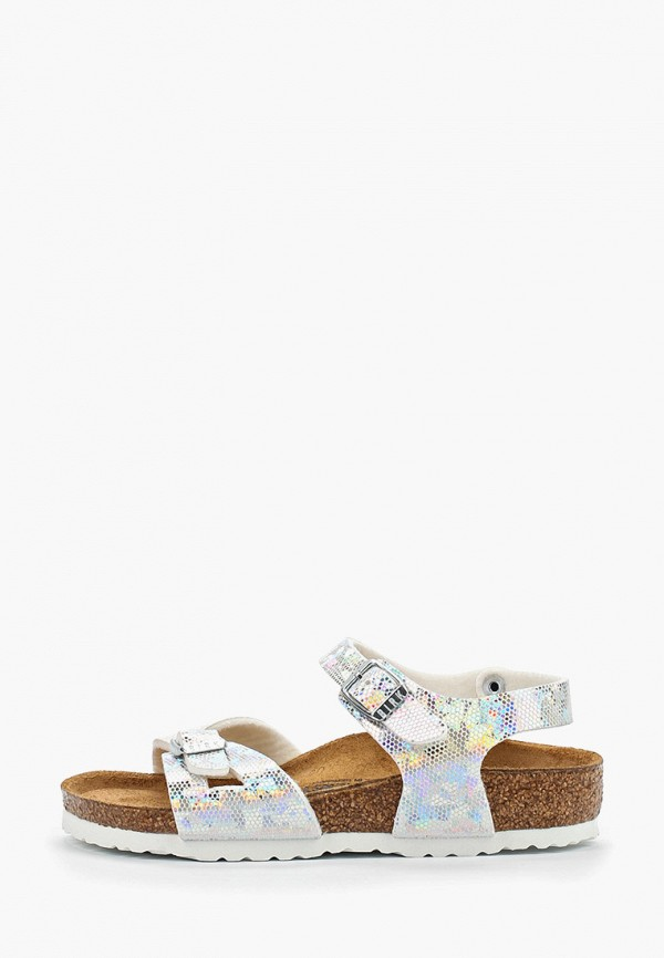 сандалии birkenstock для девочки, серебряные