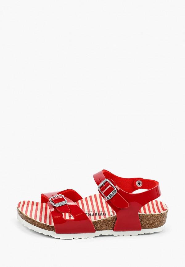 сандалии birkenstock для девочки, красные