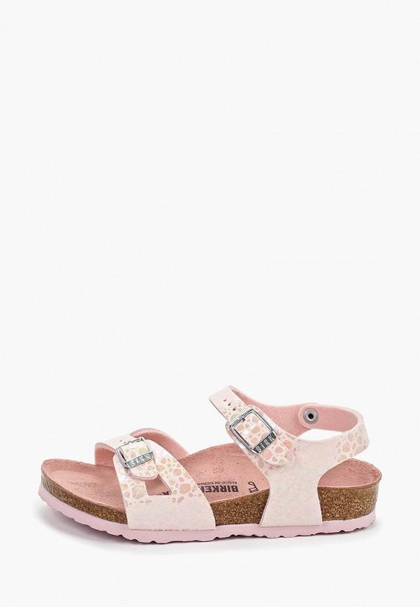 сандалии birkenstock для девочки, розовые